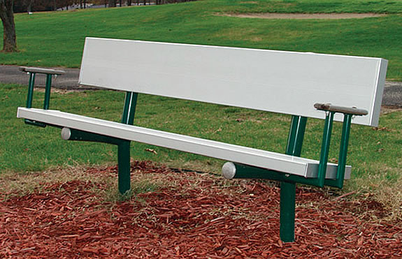 dog park benches with arms