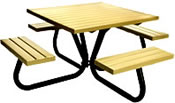 dog park equipment picnic tables